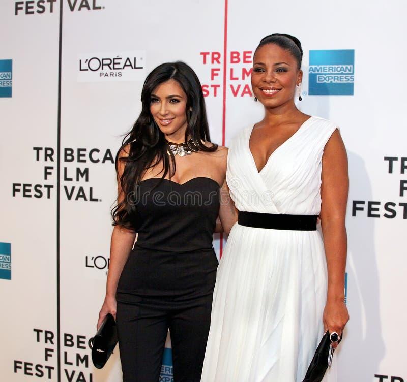Kim Kardashian e Sanaa Lathan fotos de stock royalty free