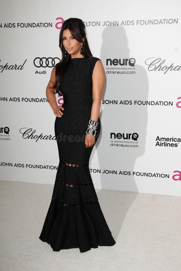 Kim Kardashian, Elton John imagens de stock