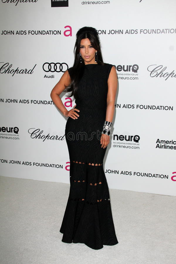 Kim Kardashian, Elton John imagem de stock royalty free