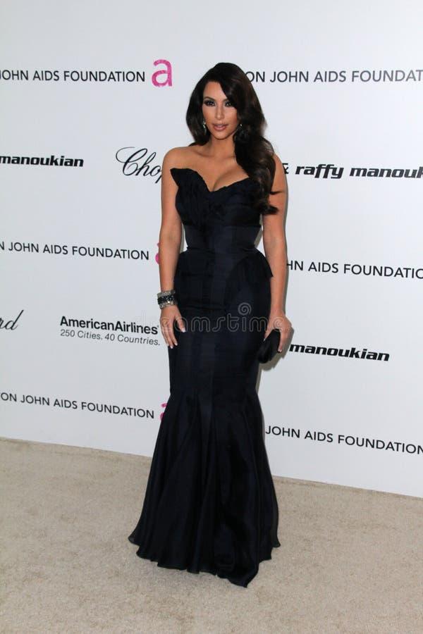 Kim Kardashian, Elton John photo stock