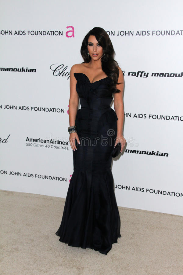 Kim Kardashian, Elton John foto de stock