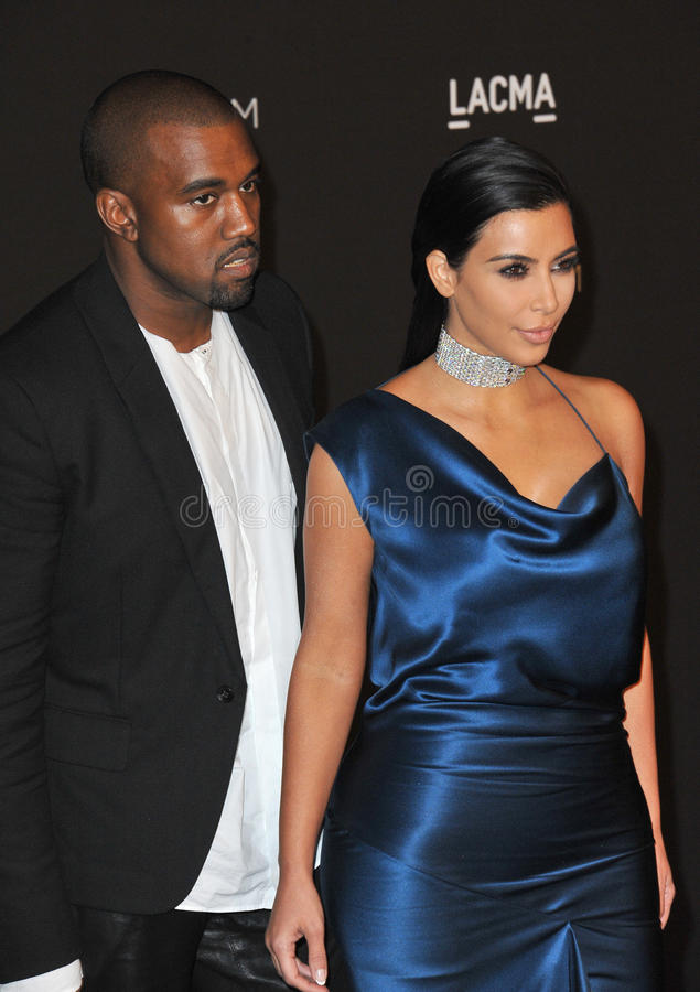 Kim Kardashian et Kanye West photographie stock libre de droits