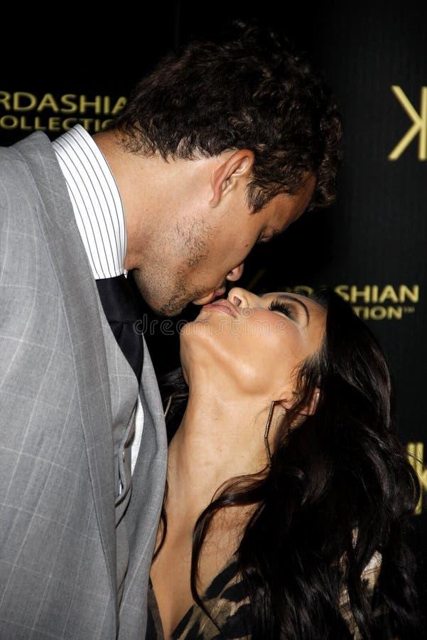 Kim Kardashian et Kris Humphries images stock