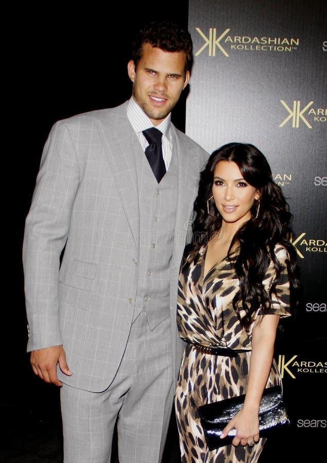 Kim Kardashian et Kris Humphries photographie stock libre de droits
