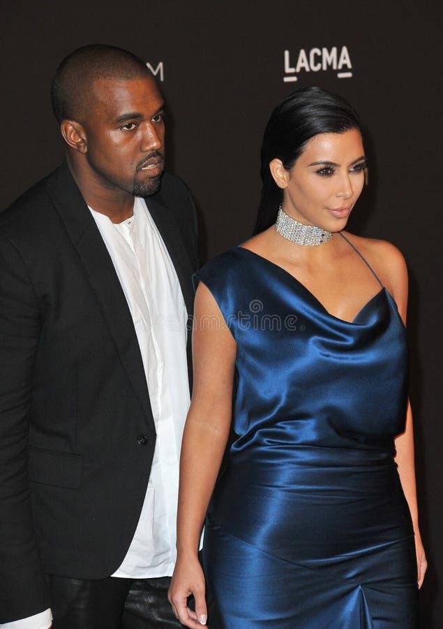 Kim Kardashian & Kanye West royalty free stock photography