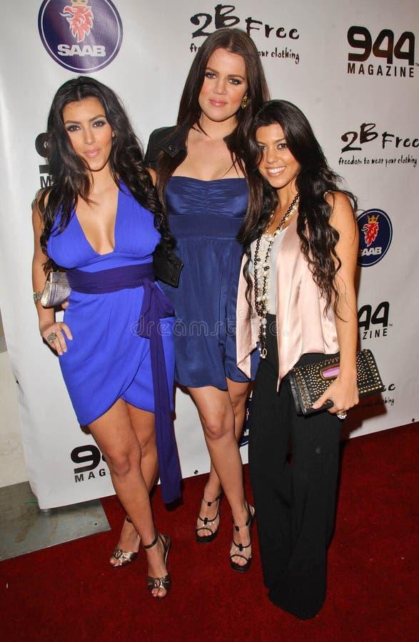 Kim Kardashian, Kourtney Kardashian stock afbeelding