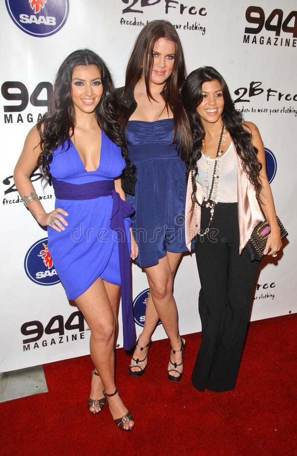 Kim Kardashian, Kourtney Kardashian photo stock