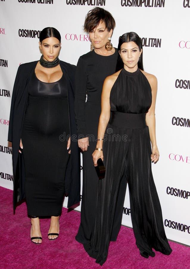 Kim Kardashian, Kris Jenner et Kourtney Kardashian photographie stock