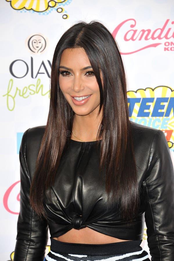Kim Kardashian. LOS ANGELES, CA - AUGUST 10, 2014: Kim Kardashian at the 2014 Teen Choice Awards at the Shrine Auditorium stock images