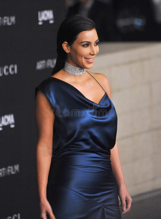 Kim Kardashian. LOS ANGELES, CA - NOVEMBER 1, 2014: Kim Kardashian at the 2014 LACMA Art+Film Gala at the Los Angeles County Museum of Art royalty free stock image