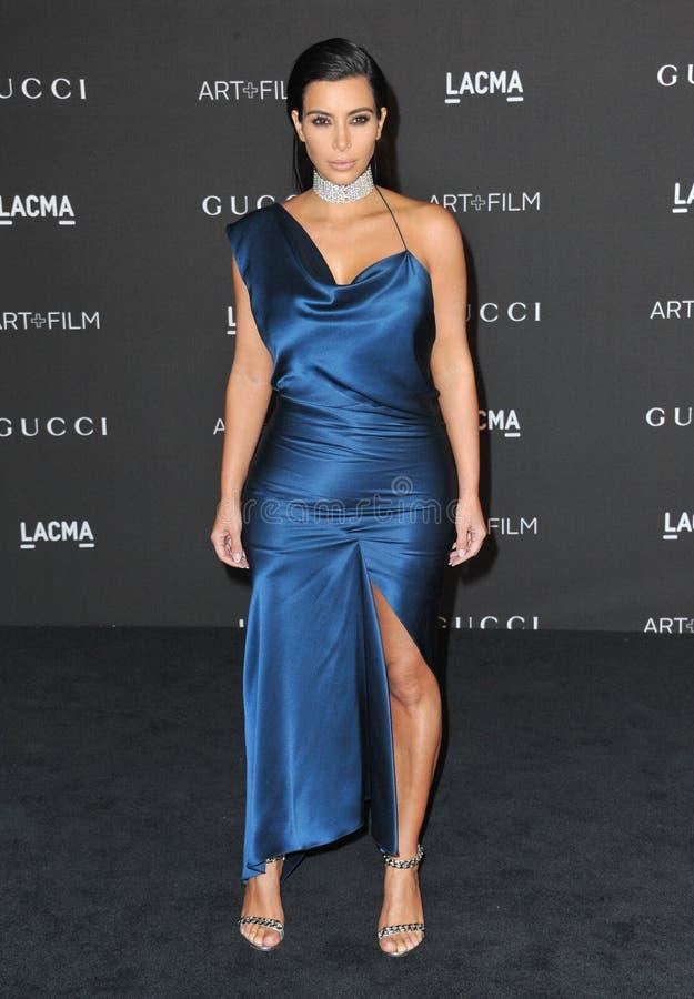 Kim Kardashian. LOS ANGELES, CA - NOVEMBER 1, 2014: Kim Kardashian at the 2014 LACMA Art+Film Gala at the Los Angeles County Museum of Art stock images
