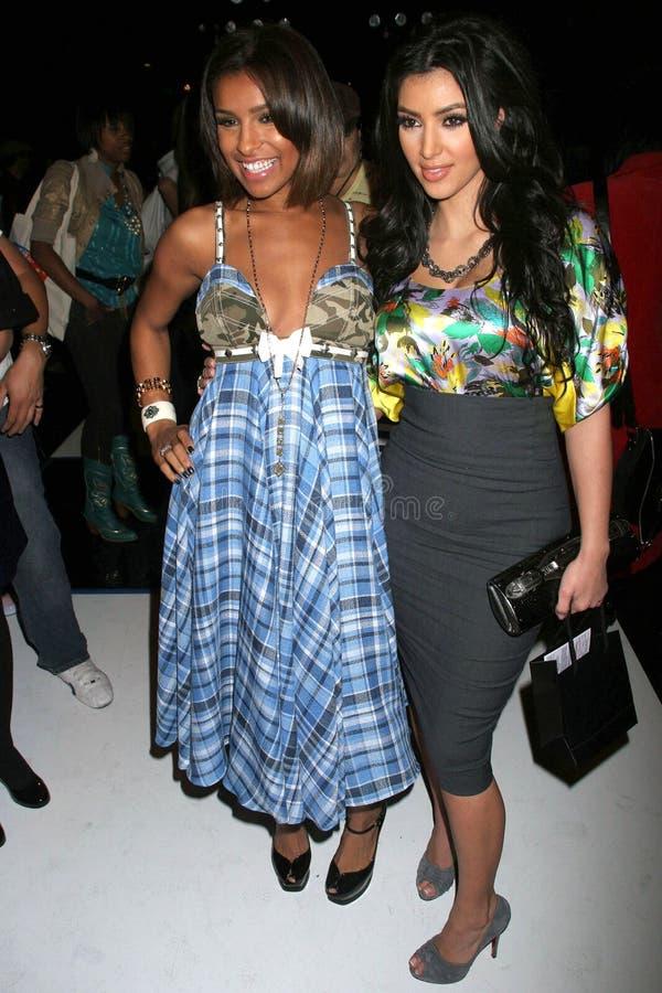 Kim Kardashian, mélodie Thornton photos stock