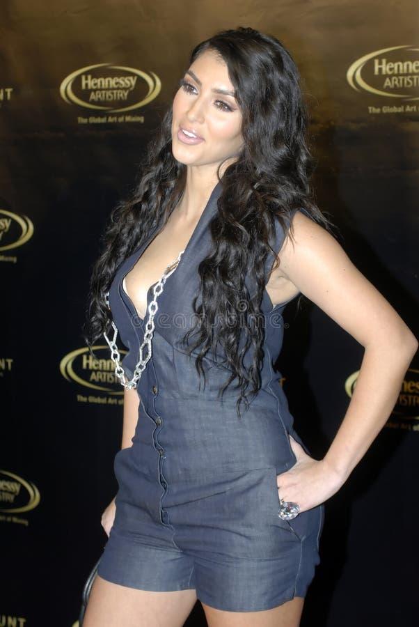 Kim Kardashian no tapete vermelho imagens de stock