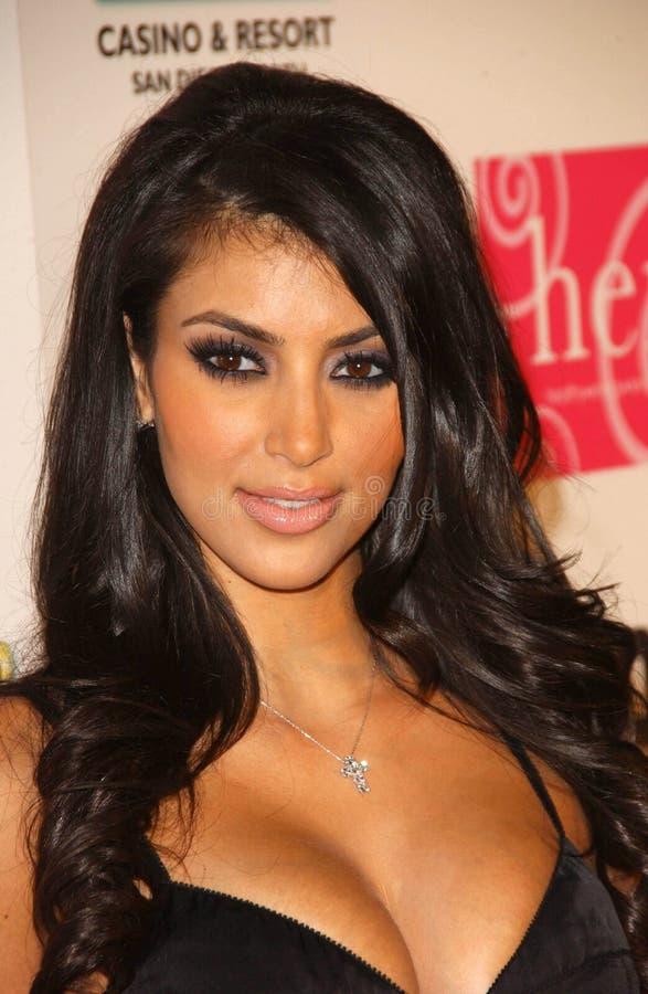 Kim Kardashian, Nicole brunt royaltyfri fotografi