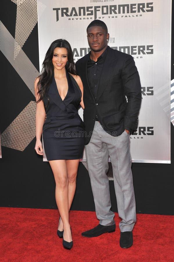 Kim Kardashian, Reggie Bush photo libre de droits