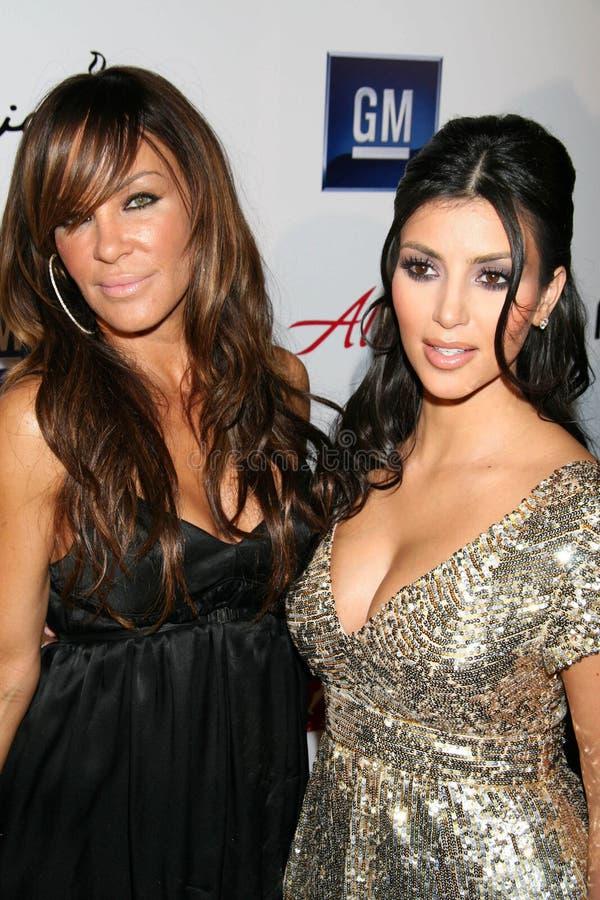 Kim Kardashian, Robin Antin photos stock