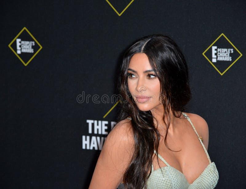 Kim Kardashian. SANTA MONICA, USA. November 11, 2019: Kim Kardashian at the 2019 E! People's Choice Awards at Santa Monica Barker Hangar..Picture: Paul Smith/ royalty free stock photo