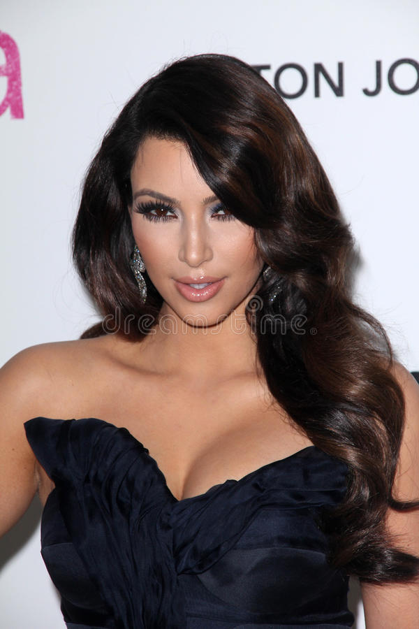 Kim Kardashian. At the 19th Annual Elton John Aids Foundation Academy Awards Viewing Party, Pacific Design Center, West Hollywood, CA. 02-27-11 royalty free stock photo