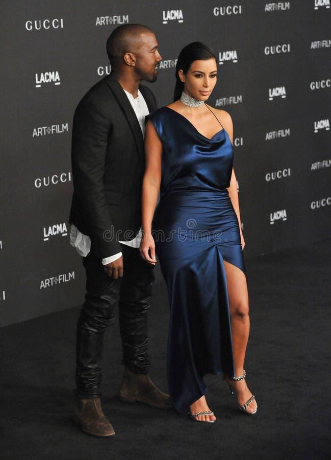 Kim Kardashian u. Kanye West stockfotos