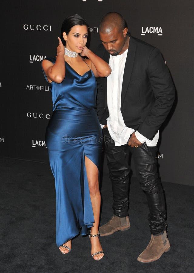 Kim Kardashian u. Kanye West lizenzfreies stockfoto