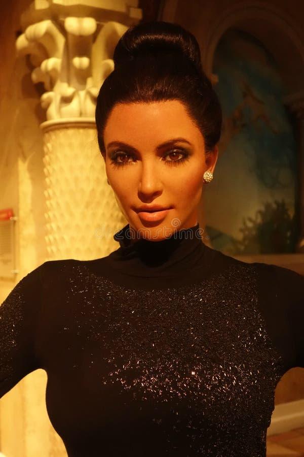 Kim Kardashian Wax Figure image stock