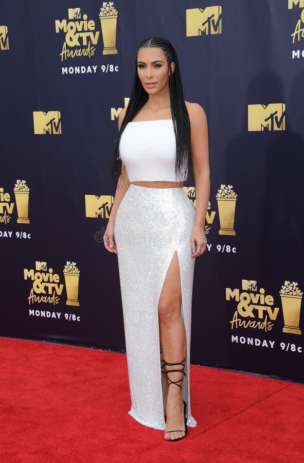 Kim Kardashian West imagem de stock