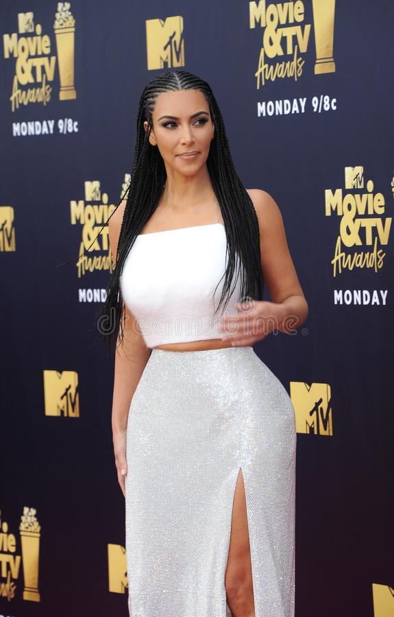 Kim Kardashian West fotografia de stock royalty free