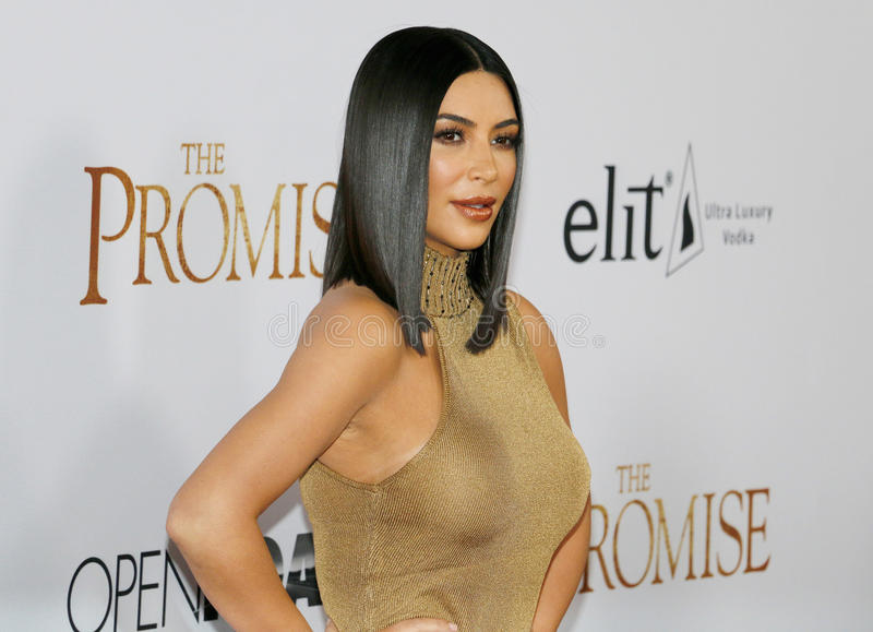 Kim Kardashian West foto de stock royalty free