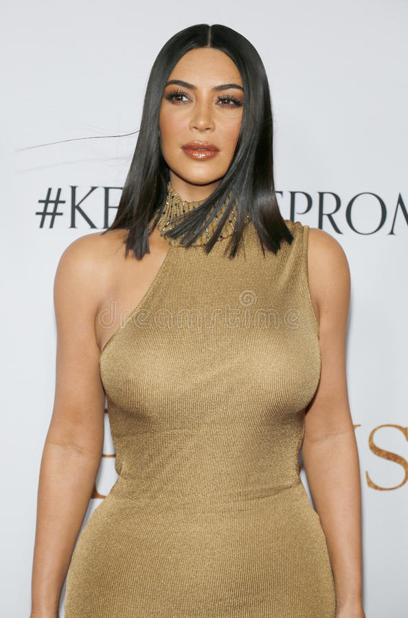 Kim Kardashian West photo libre de droits