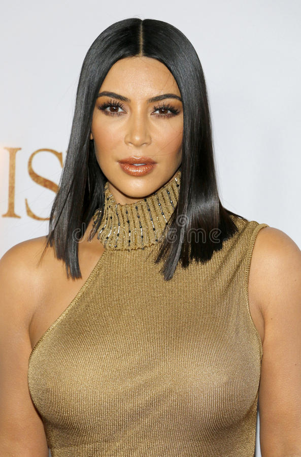 Kim Kardashian West imagem de stock royalty free