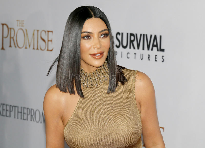 Kim Kardashian West photographie stock