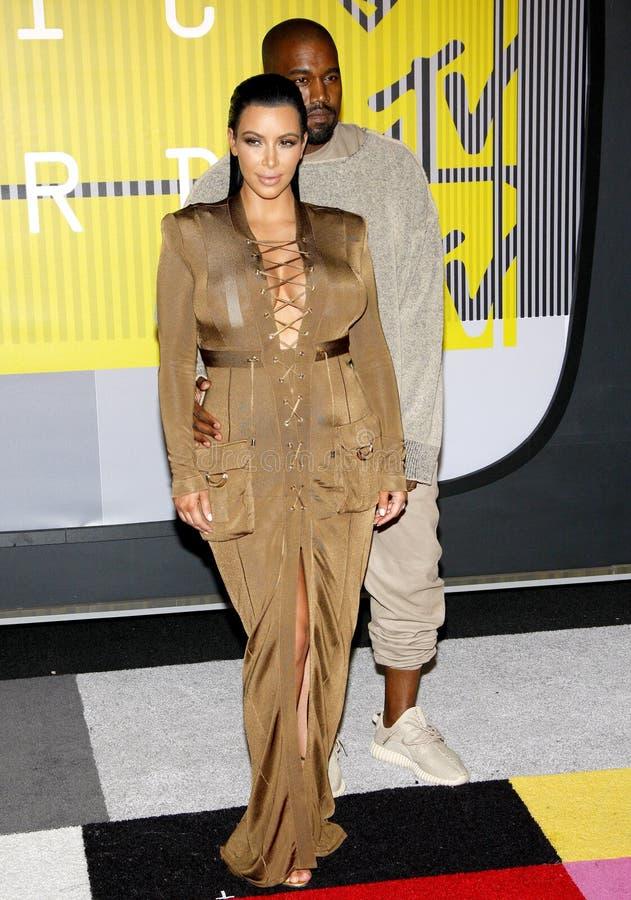 Kim Kardashian West e Kanye West foto de stock royalty free