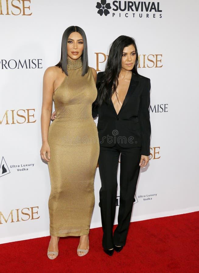 Kim Kardashian West et Kourtney Kardashian images libres de droits