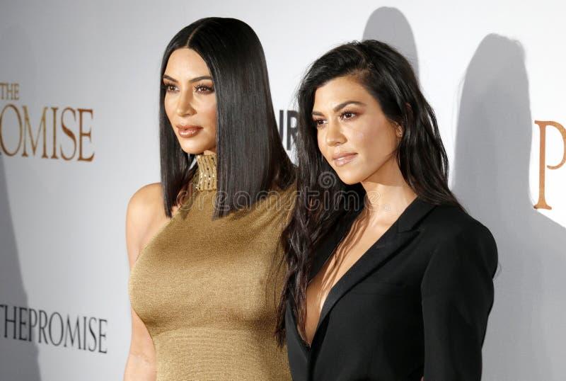 Kim Kardashian West et Kourtney Kardashian photographie stock