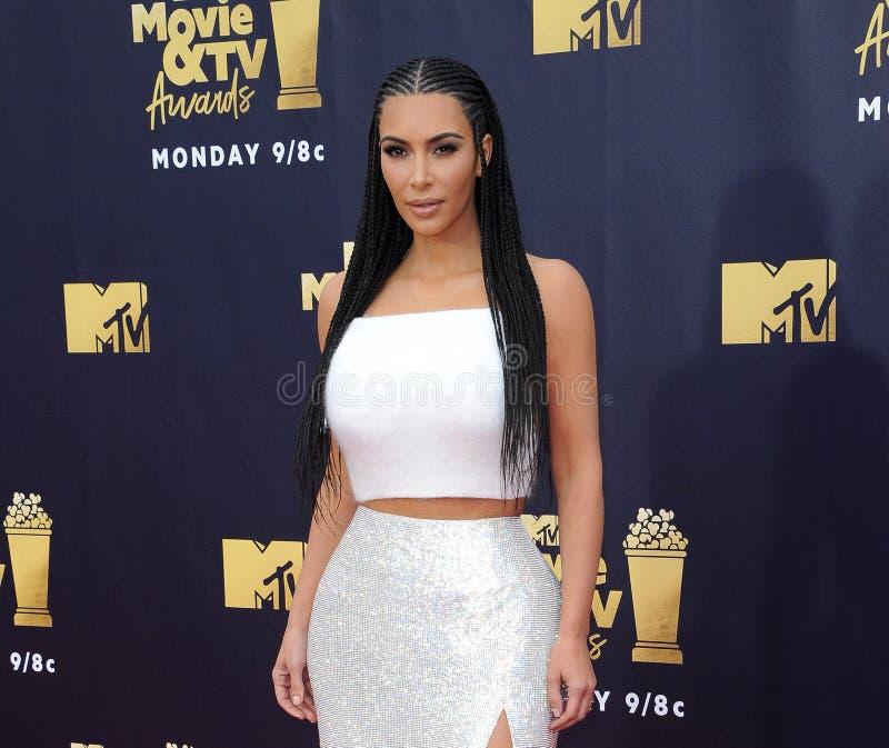 Kim Kardashian West. At the 2018 MTV Movie And TV Awards held at the Barker Hangar in Santa Monica, USA on June 16, 2018 royalty free stock photography