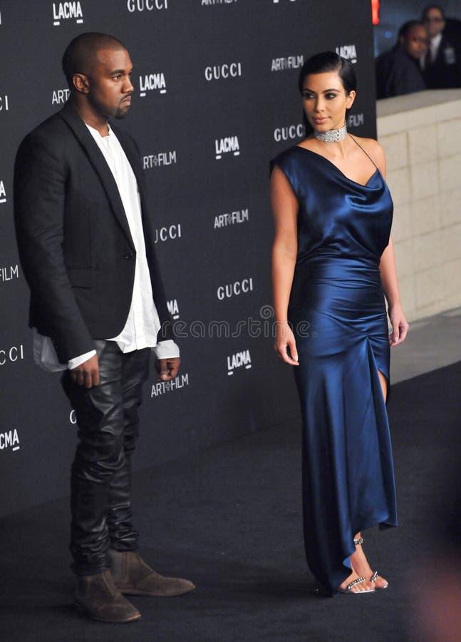 Kim Kardashian y Kanye West imagenes de archivo