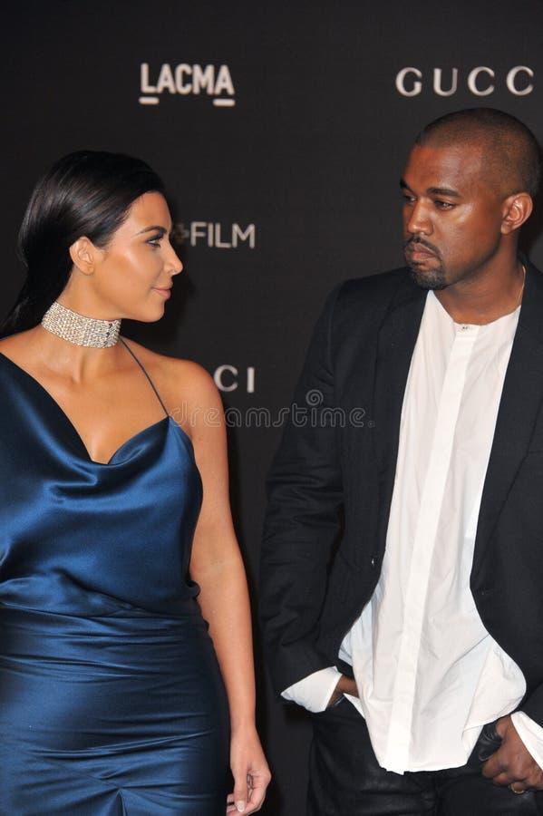 Kim Kardashian y Kanye West fotografía de archivo