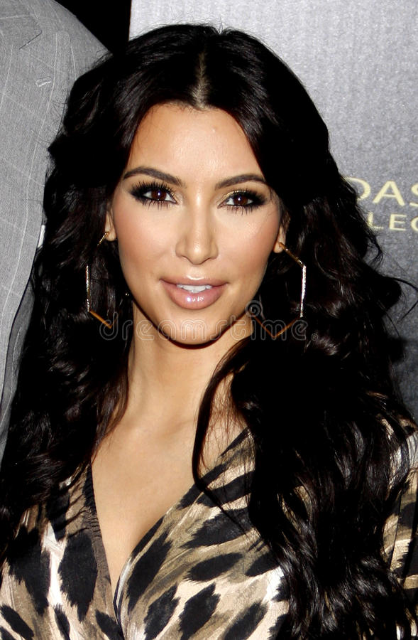 Kim Kardasian imagens de stock royalty free