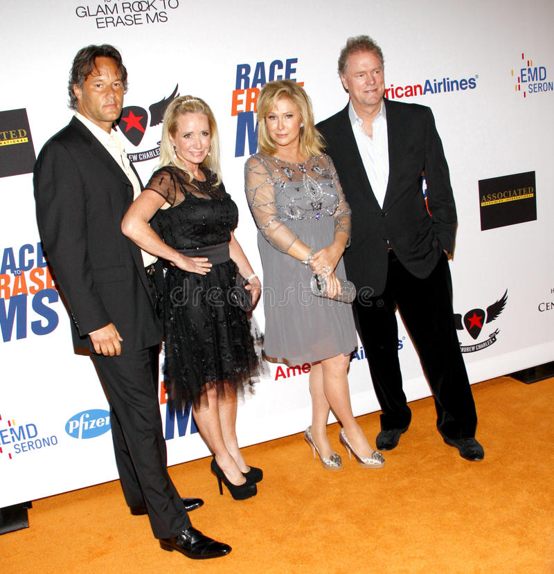 Kim Richards, Kathy Hilton y Rick Hilton imagen de archivo