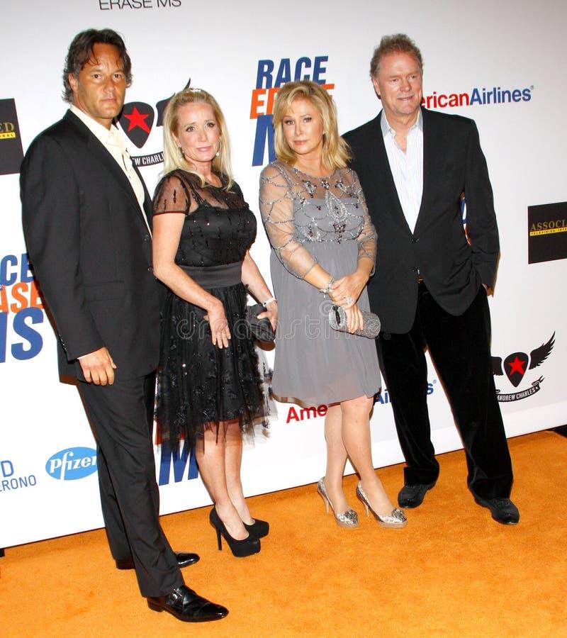 Kim Richards, Kathy Hilton y Rick Hilton foto de archivo libre de regalías