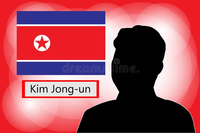 Kim UN Północny Korea ilustracji
