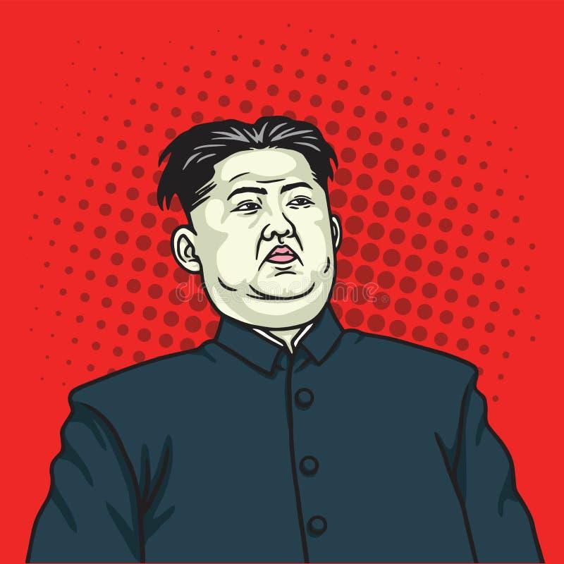 Kim UN wystrzału sztuki portreta plakat Maj 26, 2017