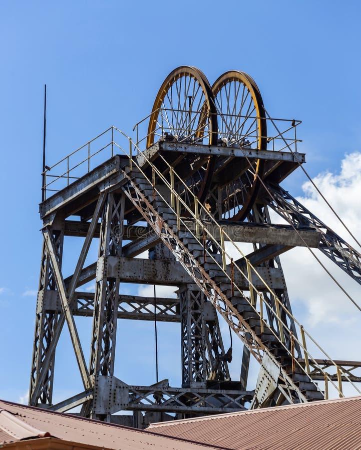 Kimberley diamond mine Shaft head stock image