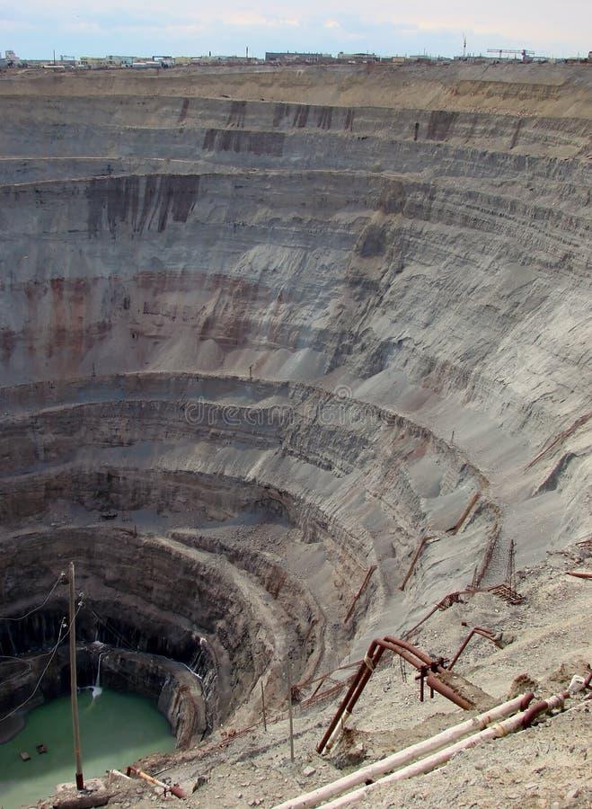 Kimberlite quarry royalty free stock photo