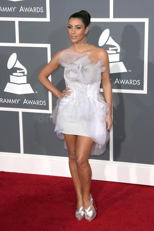 Kimberly Kardashian. At the 51st Annual GRAMMY Awards. Staples Center, Los Angeles, CA. 02-08-09 royalty free stock photography