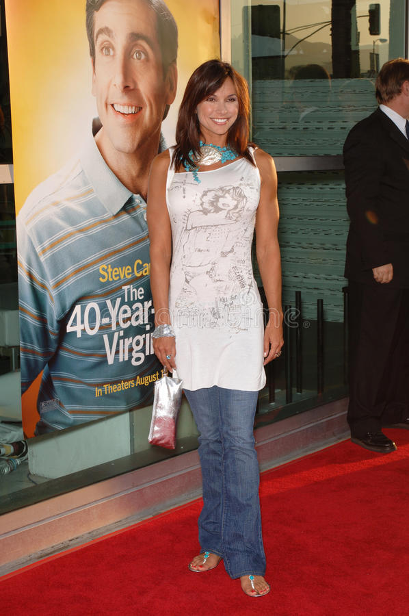 Kimberly Page. Actress KIMBERLY PAGE at the world premiere of 40 Year-Old Virgin, at the Arclight Theatre, Hollywood. August 11, 2005 Los Angeles, CA 2005 Paul royalty free stock images