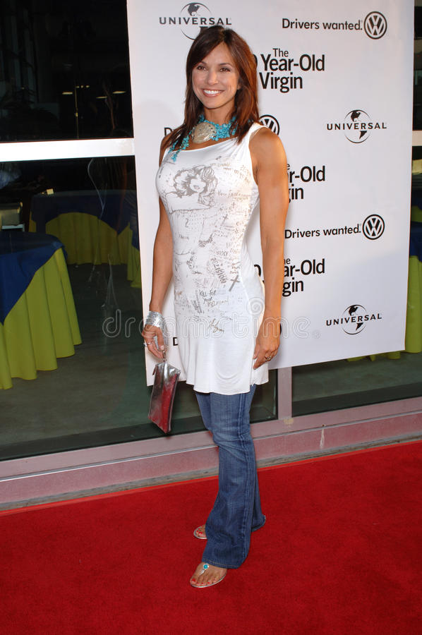 Kimberly Page. Actress KIMBERLY PAGE at the world premiere of 40 Year-Old Virgin, at the Arclight Theatre, Hollywood. August 11, 2005 Los Angeles, CA 2005 Paul stock image