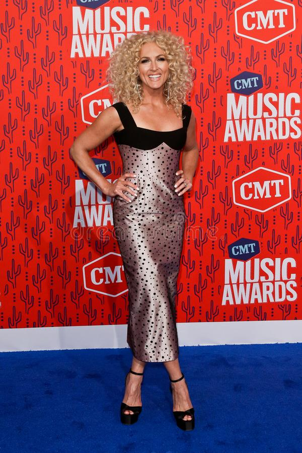 Kimberly Schlapman. NASHVILLE - JUN 5: Kimberly Schlapman of Little Big Town attends the 2019 CMT Music Awards at the Bridgestone Arena on June 5, 2019 in stock photo