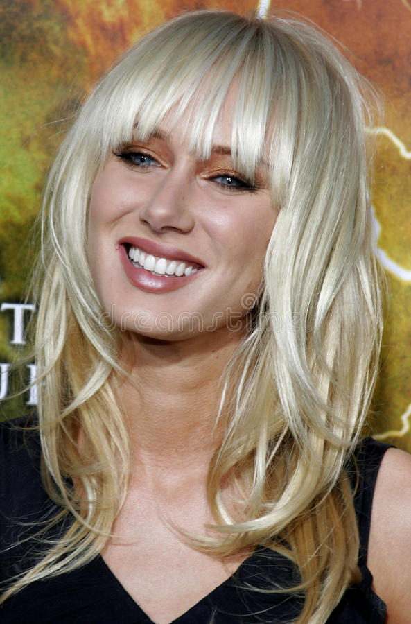 Kimberly Stewart. Attends the Los Angeles Premiere of The Reaping held at the Mann Village Theater in Westwood, CA on 03/29/07 stock photos