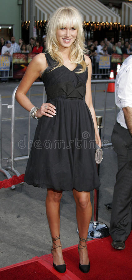 Kimberly Stewart. Attends the Los Angeles Premiere of The Reaping held at the Mann Village Theater in Westwood, California on March 29, 2007 royalty free stock image